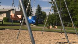 HD2008-7-17-16 empty kids playground swingset Footage
