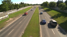 HD2008-7-17-24 blvd traffic Stock Video Footage