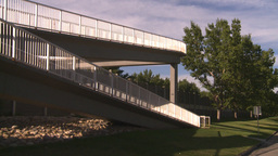 HD2008-7-17-32 walkway overpass Stock Video Footage