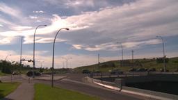 HD2008-7-17-34 blvd traffic and bridge Stock Video Footage