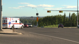 HD2008-7-17-40 ambulance street traffic Stock Video Footage