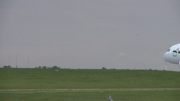 HD2008-6-1-15 AC Airbus Starts Takeoff stock footage