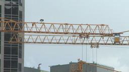 HD2008-6-1-41 construction cranes Stock Video Footage