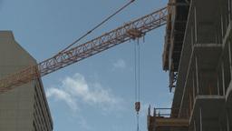 HD2008-6-1-43 construction cranes Stock Video Footage