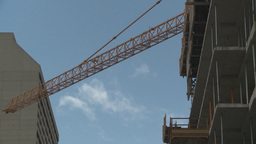 HD2008-6-1-43 construction cranes Stock Video Footage