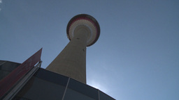 HD2008-6-2-3 Calgary tower hi tilt Stock Video Footage