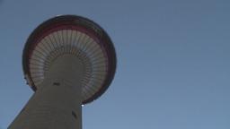 HD2008-6-2-5 Calgary tower hi tilt Stock Video Footage