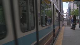 HD2008-6-2-13 LRT train Stock Video Footage