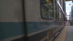 HD2008-6-2-15 LRT train Stock Video Footage