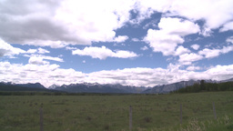 HD2008-6-2-21 rocky Mtns and pasture Stock Video Footage