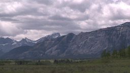 HD2008-6-2-23 rocky Mtns and pasture Stock Video Footage