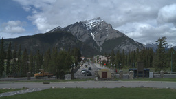 HD2008-6-2-41 Banff town iconic Z from mt Cascade Stock Video Footage