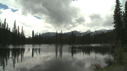 HD2008-6-3-34 pond and mountains Stock Video Footage