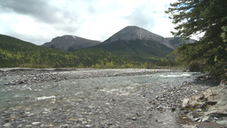 HD2008-6-3-44 elbow river and mountian Stock Video Footage