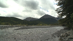 HD2008-6-3-50 elbow river and mountian Stock Video Footage