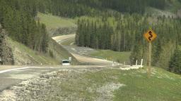 HD2008-6-3-58 steep mtn road car heat ripples Stock Video Footage