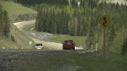 HD2008-6-3-60 steep mtn road car heat ripples Stock Video Footage