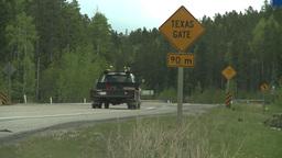 HD2008-6-3-68 texas gate road truck Footage