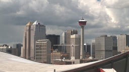 HD2008-6-4-12 calgary skyline scotsman hill ll Stock Video Footage