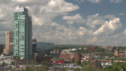 HD2008-6-4-14 calgary skyline scotsman hill ll offset condo Stock Video Footage