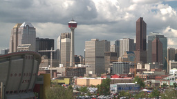 HD2008-6-4-16 calgary skyline scotsman hill Z Stock Video Footage