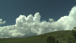 HD2008-6-4-26 TL clouds nose hill green Stock Video Footage