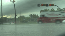 HD2008-6-4-28 rainstorm thru windshield Footage