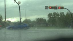HD2008-6-4-28 rainstorm thru windshield Stock Video Footage