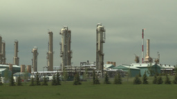 HD2008-6-5-1 gas plant Stock Video Footage