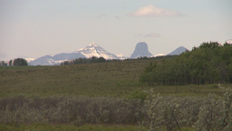 HD2008-6-5-15 mtns and pasture Stock Video Footage
