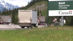 HD2008-6-6-2 Banff gates traffic Stock Video Footage