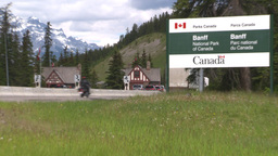 HD2008-6-6-2 Banff gates traffic Stock Video Footage