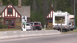 HD2008-6-6-4 Banff gates traffic Footage