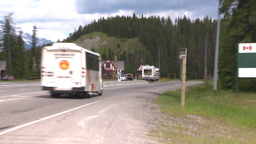 HD2008-6-6-4 Banff gates traffic Stock Video Footage