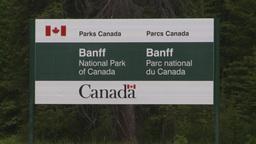 HD2008-6-6-6 Banff gates sign Stock Video Footage