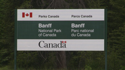 HD2008-6-6-6 Banff gates sign Stock Video Footage