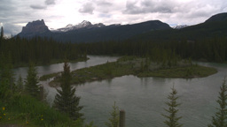 HD2008-6-6-8 Banff Castle mtn and river Footage
