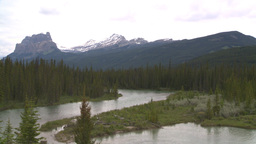 HD2008-6-6-10 Banff mtn and river Stock Video Footage