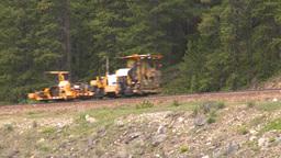 HD2008-6-6-12 rail maintenance tractor Stock Video Footage