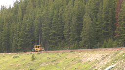 HD2008-6-6-14 rail maintenance tractor Stock Video Footage