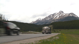 HD2008-6-6-16 TCH semi truck summer traffic mtns Stock Video Footage