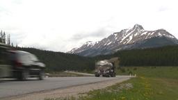 HD2008-6-6-16 TCH semi truck summer traffic mtns Footage