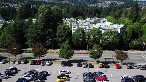 Time Lapse Shot Of Busy Parking Lot stock footage