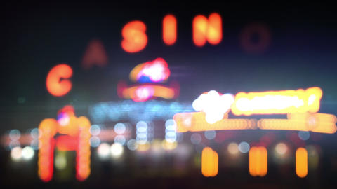 Night Casino Lights Loop stock footage