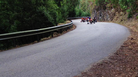 Drift trike riders during the 2nd Newton's Force F Stock Video Footage