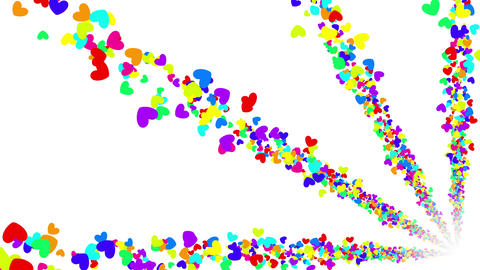 Colorful Heart BG 5 4k Animation