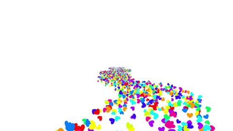 Colorful Heart C 1 4k Animation