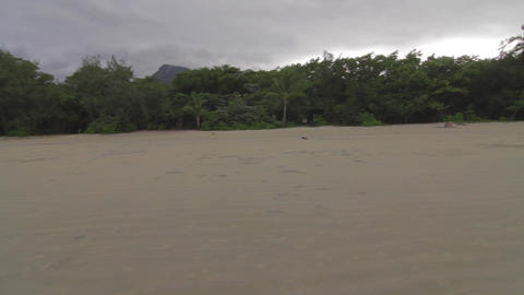 pan on a beach in cape tribulation Footage