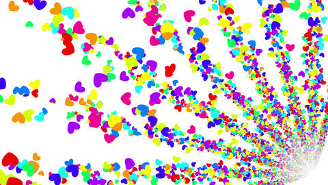 Colorful Heart BG 1 4k Animation