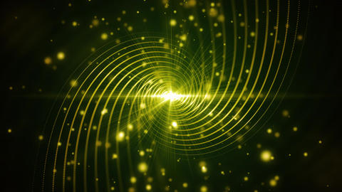 Green Particle Lines Swirl stock footage